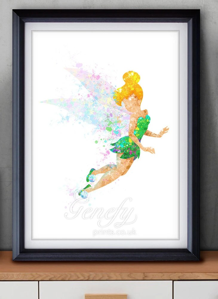 Ideen Zum Zeichnen Disney Tinkerbell Fairy Watercolor Art Poster Print Wall