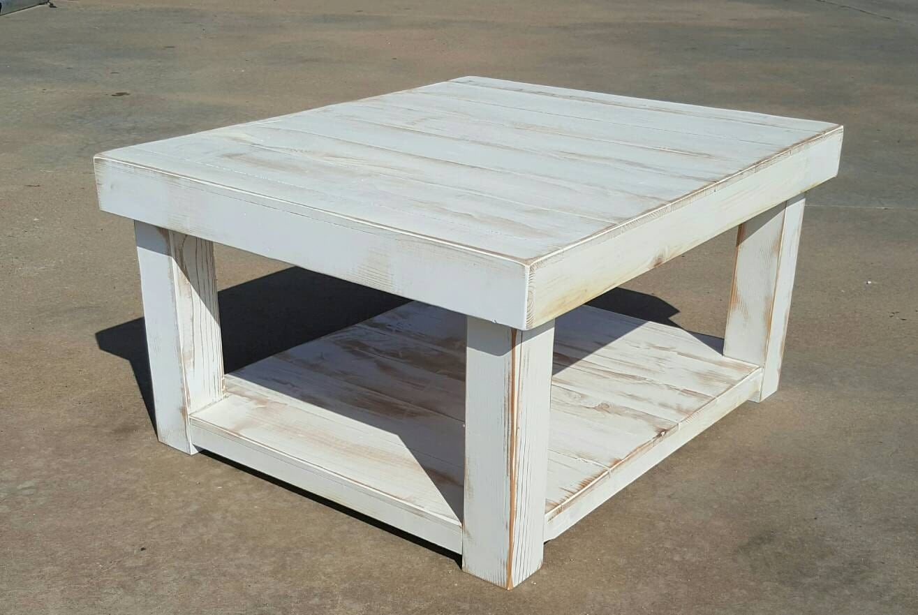 Farmhouse Coffee Table Etsy Shabby Chic Farmhouse Coffee Table With White Distressed