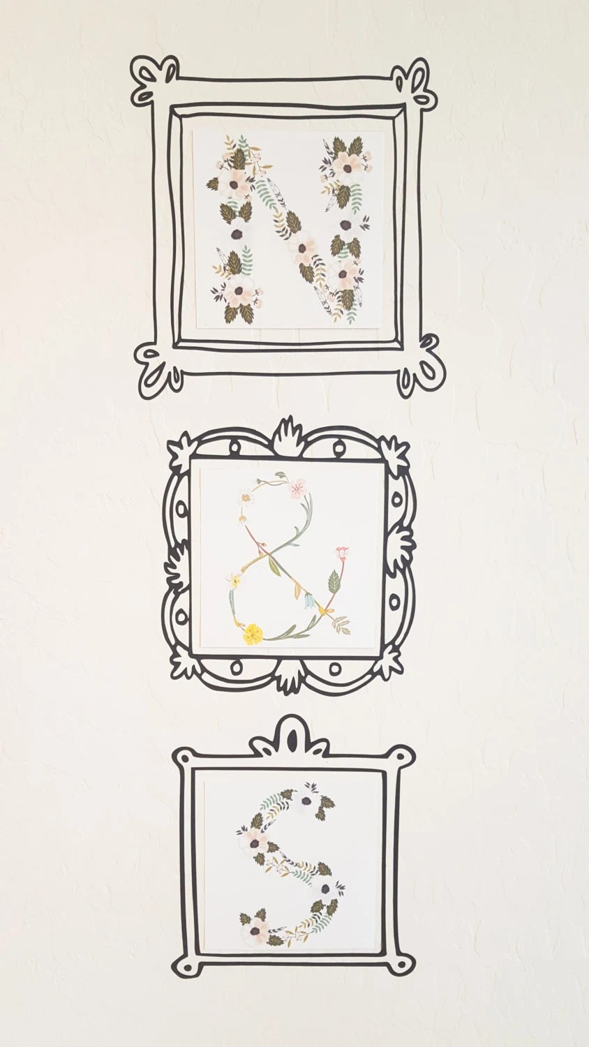 Picture frame decal