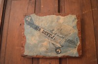 vintage wooden plank airplane art wall art early by Hangar87