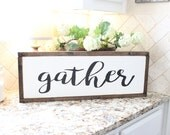 Gather Wood Sign | Painte...