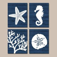 Beach BATHROOM Wall Art Nautical CANVAS or Prints-Nautical
