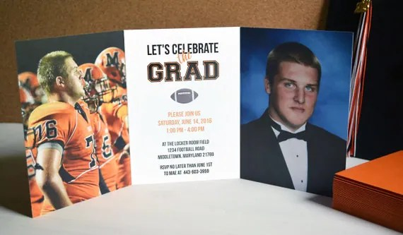 Trifold Graduation Invitations, Two Sided Graduation Invitation - graduation photo invitations