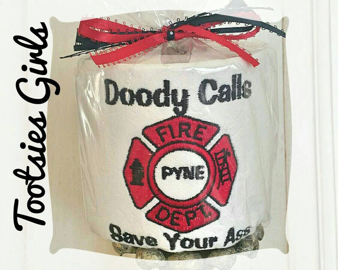 Custom Made Toilet Paper Fire Fighter Toilet Paper 39doody Calls Personalized