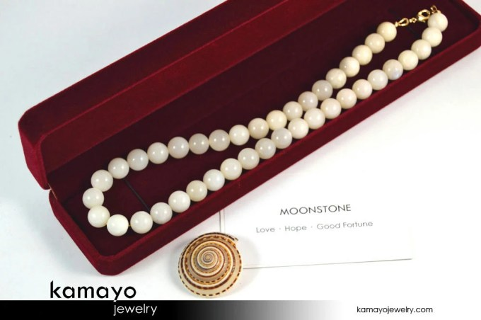 WHITE MOONSTONE NECKLACE ...
