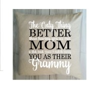 Grandma Pillow Cover Mother's Day Pillow Grammy by ...