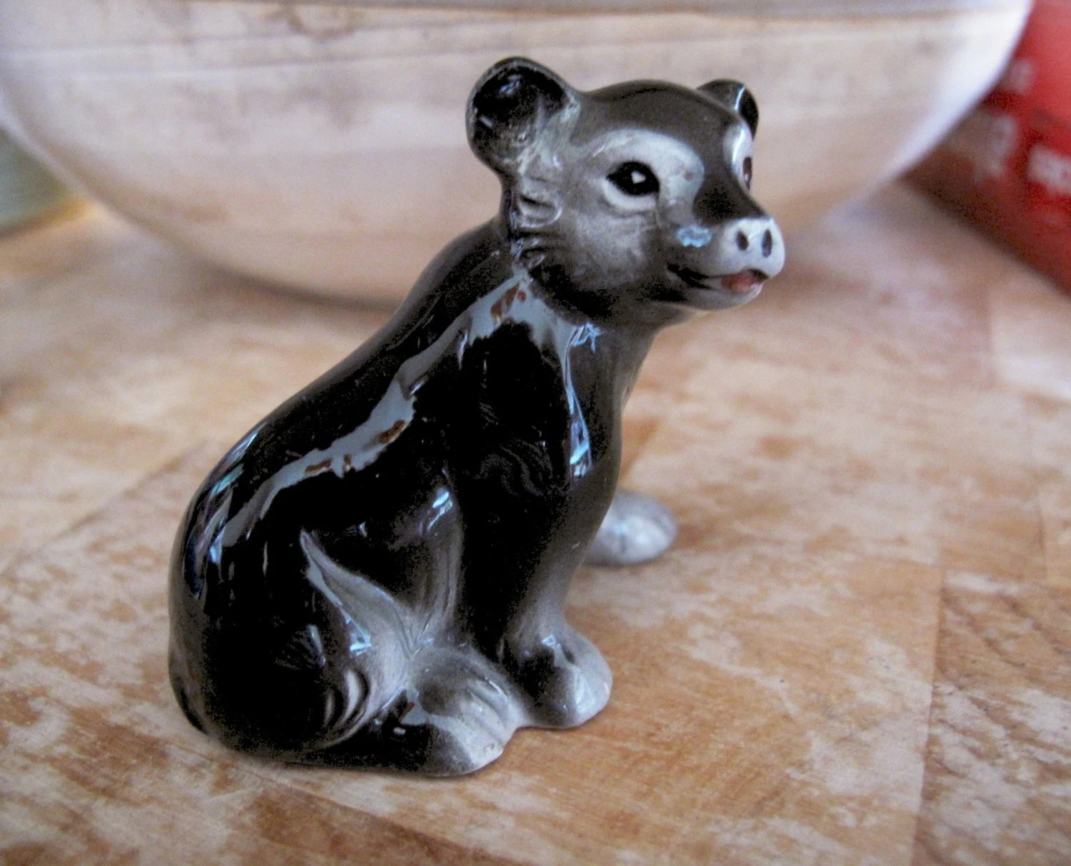 Animal Figurines Home Decor Vintage Bear Figurine Woodland Animal Collectable Home Decor