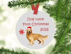 Glomorous Gen Retriever Ornament Personalized Dog Ornament Porcelain Retrievers Ornament Ceramic Gen Retriever Decorations Living Life One Gift At A Time