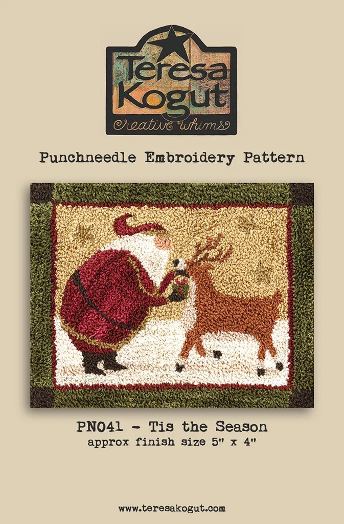 Punchneedle Pattern Needlwork DIY Crafts Tis the Season