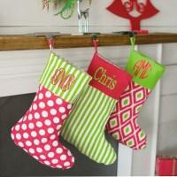 Burlap Christmas Stockings Monogram by TheVelvetButtercup ...