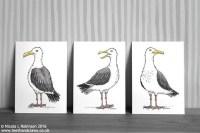 Seagulls Art Prints Seagull Wall Art Seagull Decor Seagull