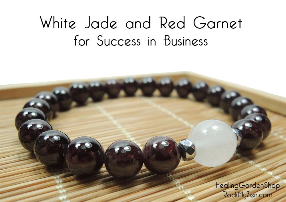 Success In Business Healing Energy Bracelet White Jade