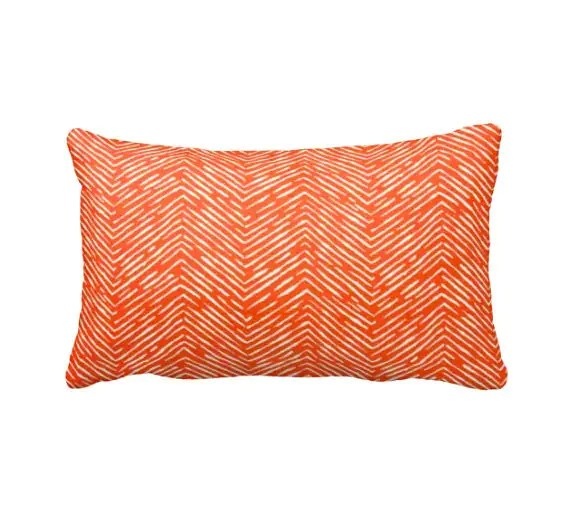 7 Sizes Available Orange Throw Pillow Orange Pillow Cover