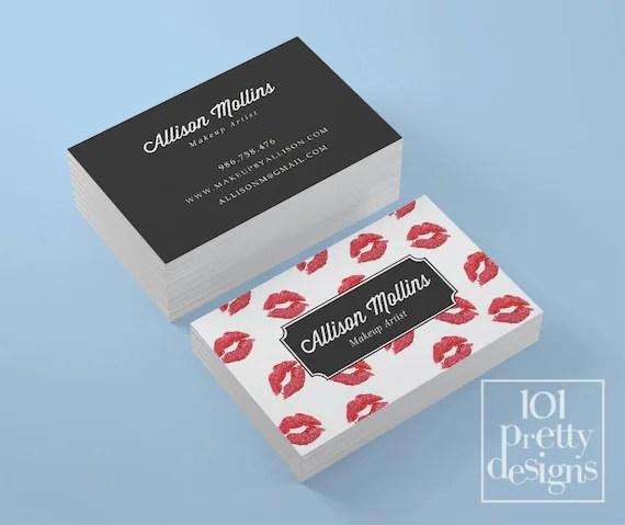 Lipsense business card kisses printable business card design red - lipsense business card