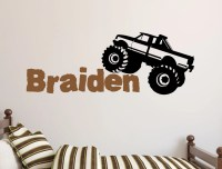Monster Truck Wall Decals Australia - m Wall Decal