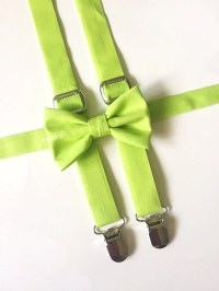 Lime Green Bow Tie and Suspender Set Lime Bow Tie Lime