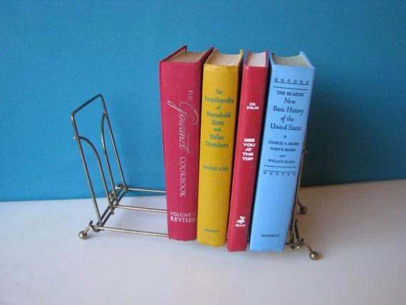 Brass Wire Book Rack Desktop Folding Book Shelf