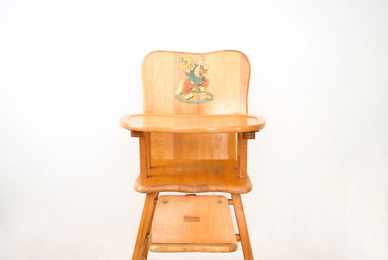 High chair antique high chair baby chair wooden high chair