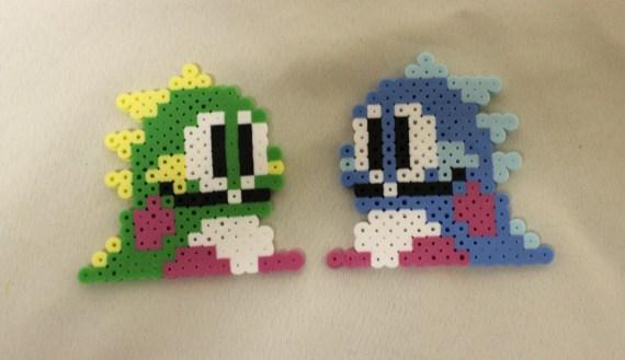 8-bit NES Bubble Bobble DIY perler