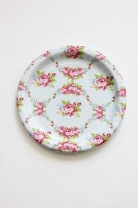 30 FLORAL TEA PARTY Paper Plates Parisian Vintage Style Shabby