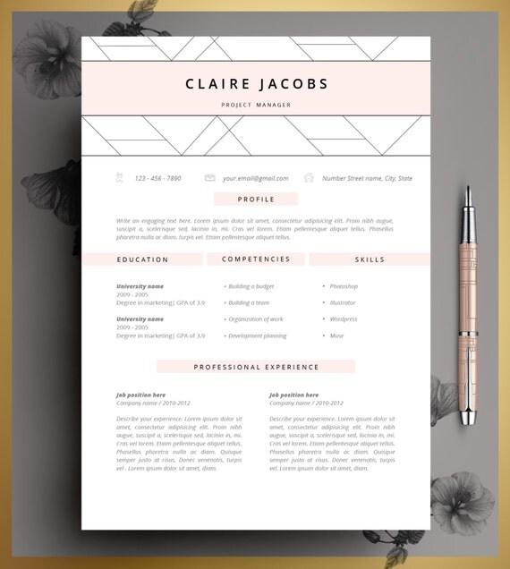 Resume Template CV Template Editable in MS Word and Pages - editable resume template