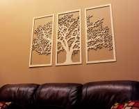 Tree of Life 3D 3 Panel Tree Wood Wall Art Beautiful Tree