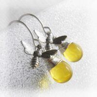 Bee Bee Earrings Bee Jewelry-Honey Bee Jewelry Bumble Bee