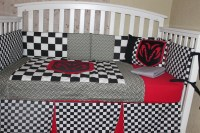 Crib Bedding Set Dodge Ram 6 Piece Automobile Checkered and