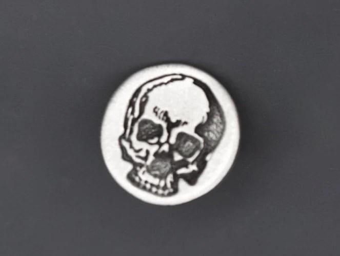 Skull Tie Tack Men's Cufflinks Vicortian Gothic Vintage