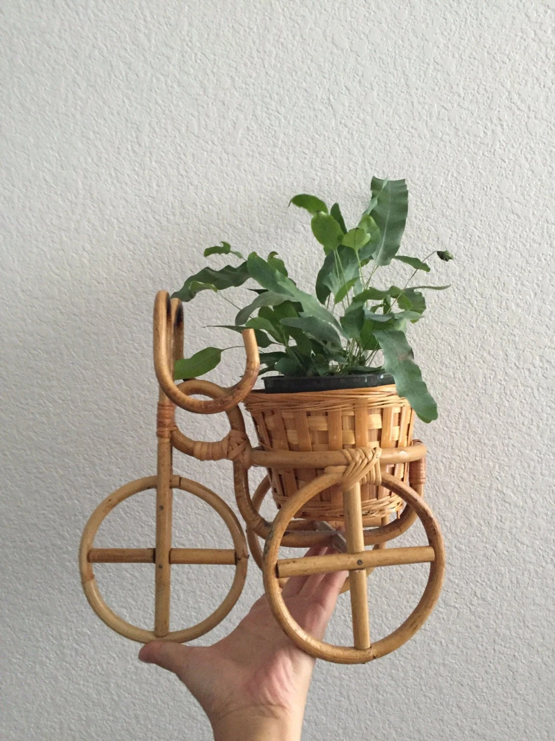 Bamboo Planter Stand Bamboo Rattan Plant Stand Flower Pot Holder Planter