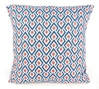 Navy Coral Throw Pillow Cover ALL SIZES Navy Couch Pillow