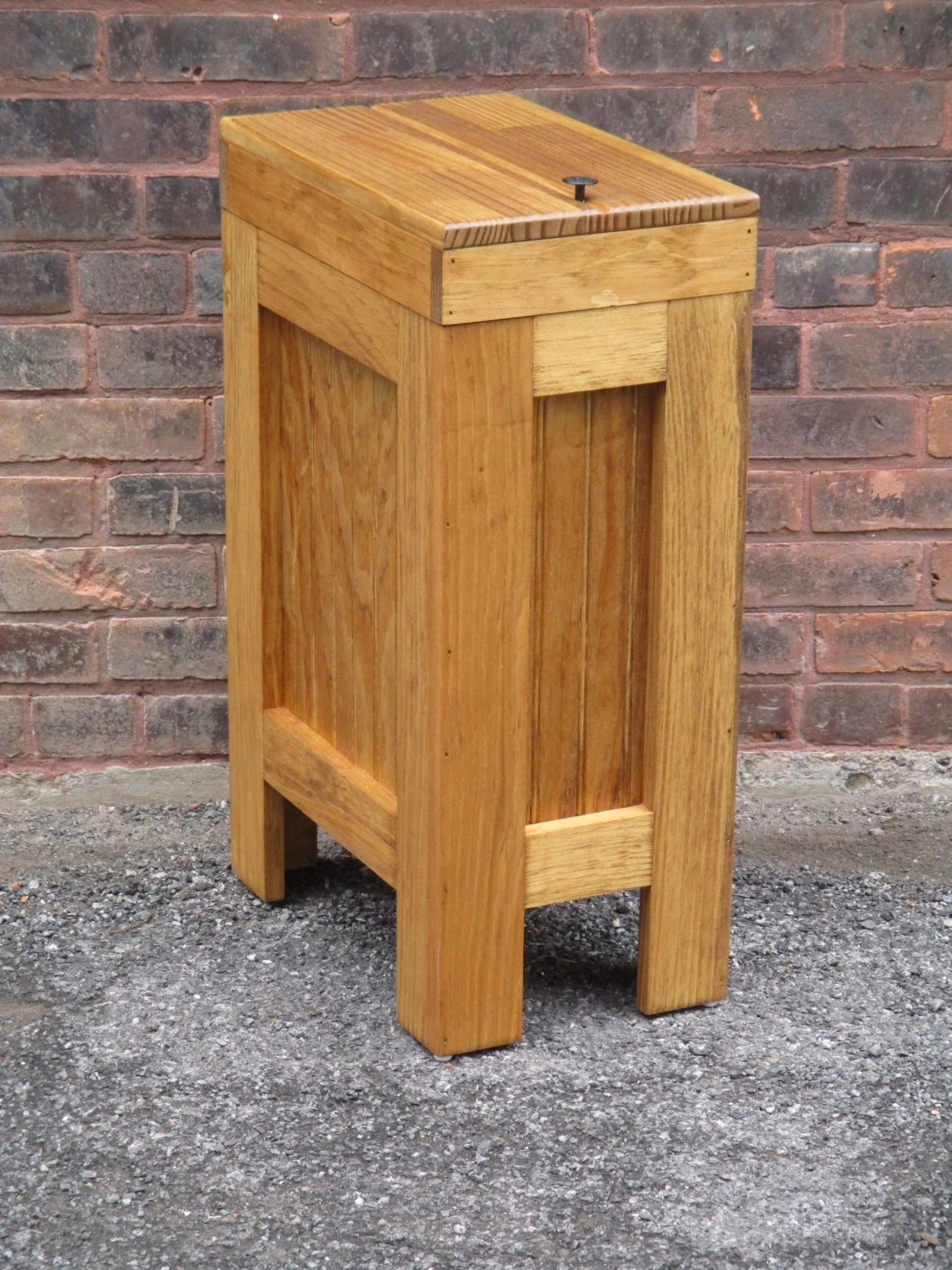 Wooden Kitchen Trash Containers Wood Trash Bin Wood Trash Can Kitchen Garbage Can Dog Food