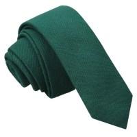 JA Ottoman Wool Hunter Green Skinny Tie by DQTUK on Etsy