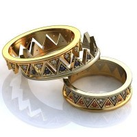 Crown Wedding Bands His and Her Crown Rings Royal by ...