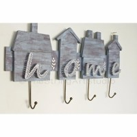 String art wall key holder personalized by TheStringArtStudio