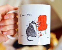 Funny Cat Mug Love You Chair Rip Bad Cat Gift for Cat