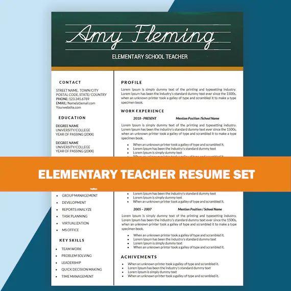 teacher cv template word