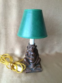 Monkey Accent Lamp Gorilla with Baby Small Lamp 15 Watt