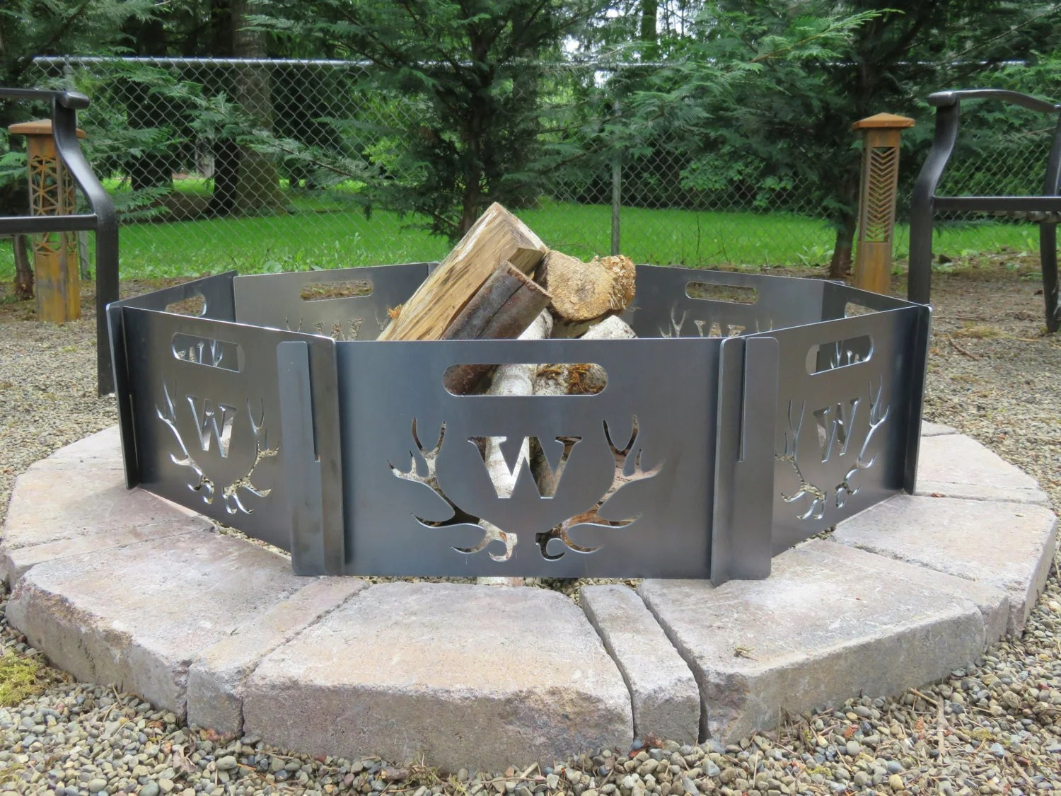 Fire Pit Personalized Custom And Portable Add Your Initial