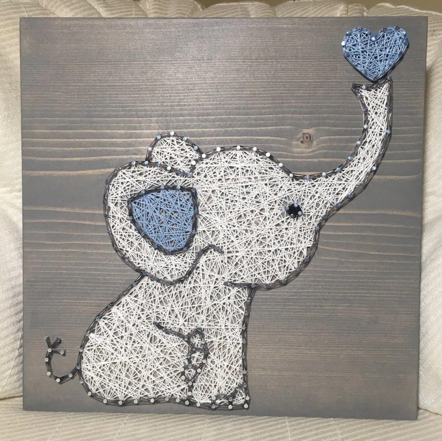 Teppich Outdoor Custom Elephant String Art Sign Baby Elephant Love By