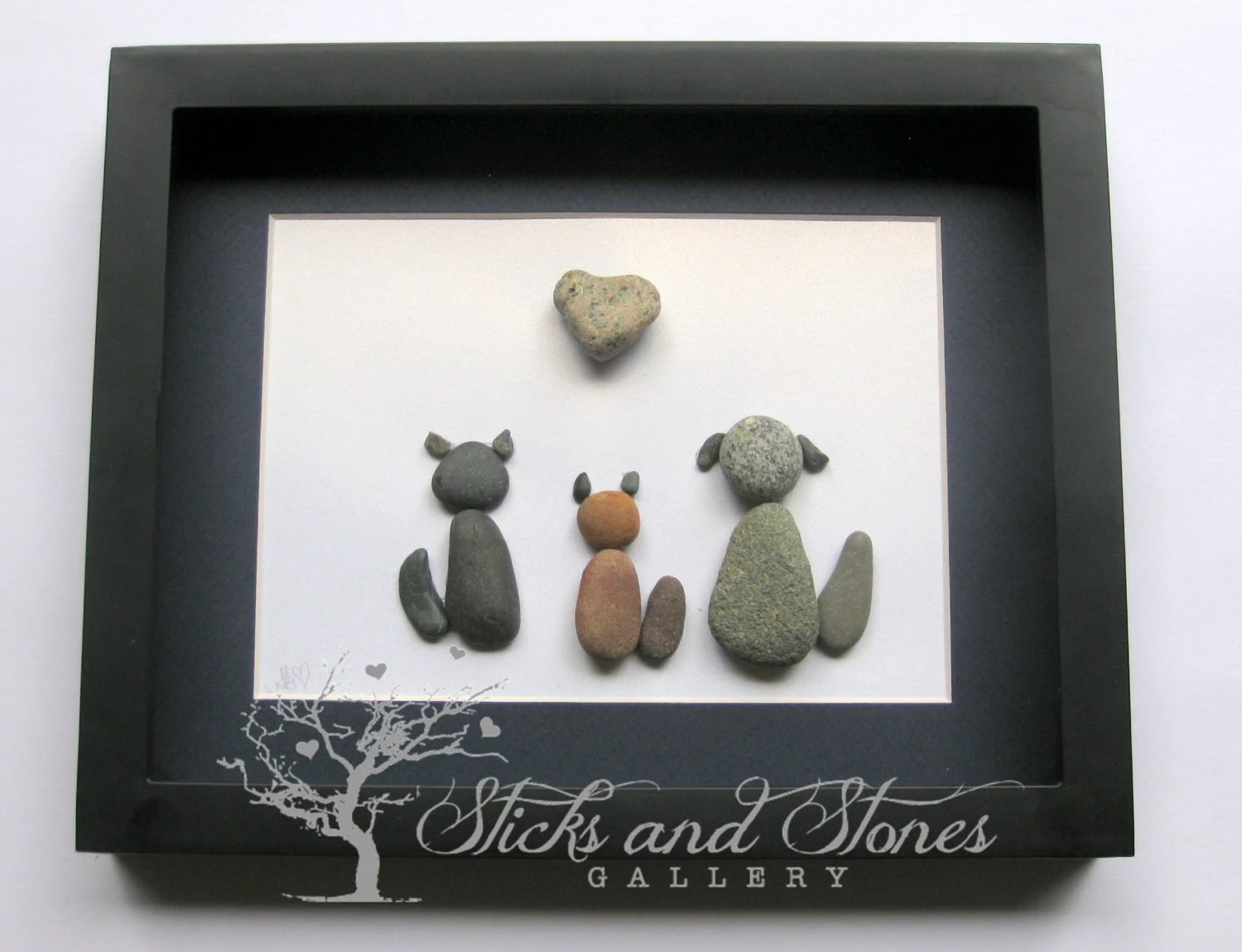 Unique Cat Lover Gift Animal Lover Gifts Rescue Animals Animal Themed Pebble Art