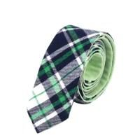 Skinny Tie Mens Ties Mens Neckties Checkered Green Tie Husband