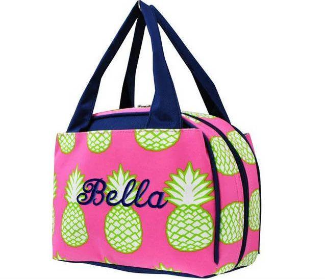 monogrammed lunch bag