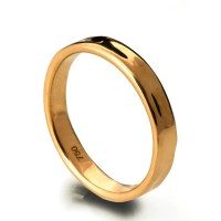 Simple Gold Wedding Band 18k Rose Gold Ring 18k Gold Band