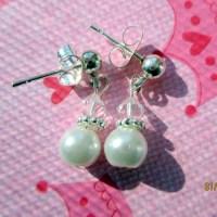 Children's clip on earrings-girls pearl by StoryBookEarrings