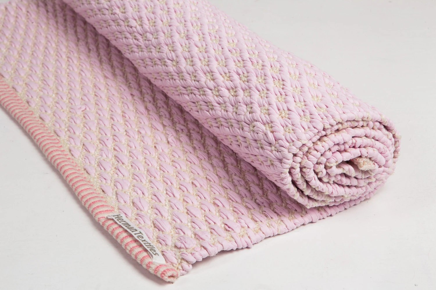 Baby Pink And White Rug Cotton Rug Baby And Kids Rug - Teppich Altrosa Baby