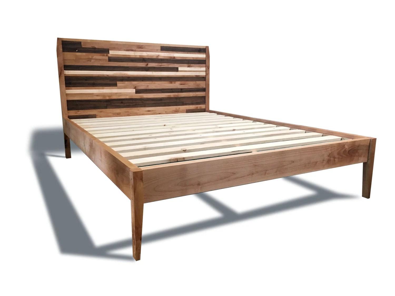 Mid Century Modern Platform Bed Frame And Headboard