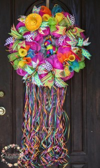 Fiesta Wreath-Cinco De Mayo Wreath-Fiesta Deco Mesh