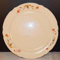 Hall Dinnerware Autumn Leaf Dinner Plates Vintage 2 Superior