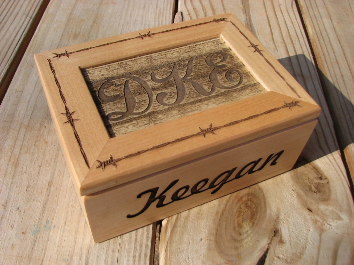 Personalized Laser Engraved Wooden Box Jewelry Box